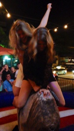 and then we rode a mechanical bull together