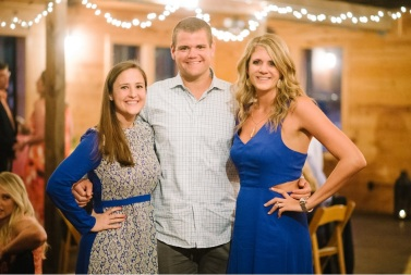 Cole and I with the Maid of Honor, Anne