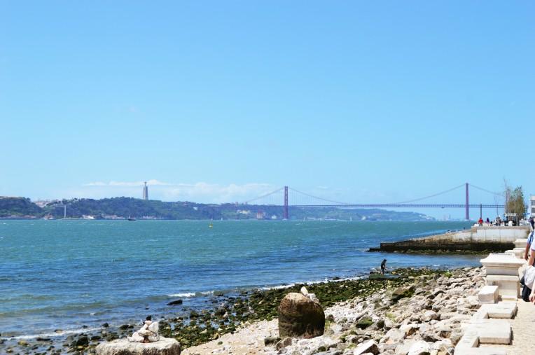 25 de Abril Bridge - splitting image of the Golden Gate Bridge