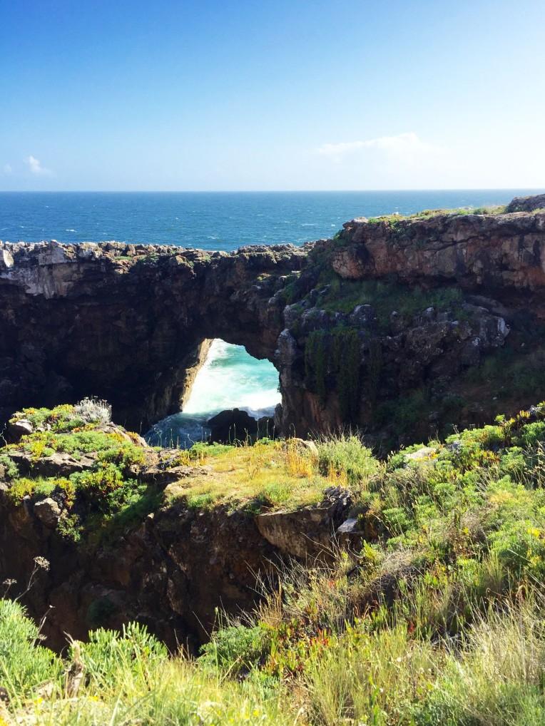 Beautiful cliffs along the run