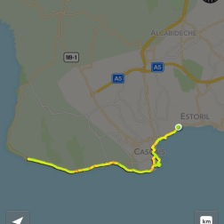 The course of our 10 mile run