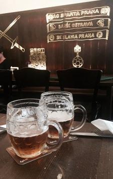 Enjoying the pilsner at Lokal
