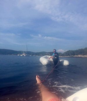 How Edi pulled in the boys - Cove Day in Vis