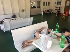 Rough ferry ride back to Split