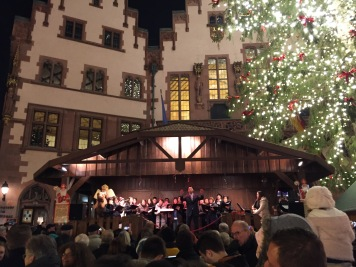 The Christmas markets even had carolers!